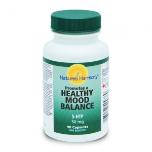 5-HTP de la Natures Harmony - produs naturist din farmacia canadiana. Tratament naturist pentru depresie. Remediu naturist anti-stress. Antidepresiv, antistress, calmant.