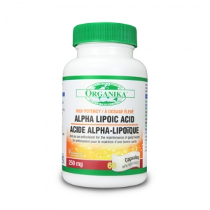 Acid Alfa Lipoic - 250 mg - antioxidant 100% natural, hepatoprotector, puternic detoxifiant pentru ficat.