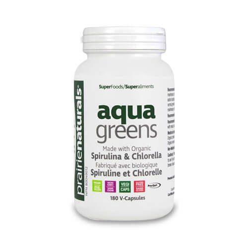 Produse PrairieNaturals - Aqua Greens - 180 capsule vegetale