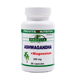 Produse Provita Nutrition - Ashwagandha cu magneziu | Produse naturiste | Tratamente naturiste | Remedii naturiste | Farmacia Canadiana | Farmacie naturista
