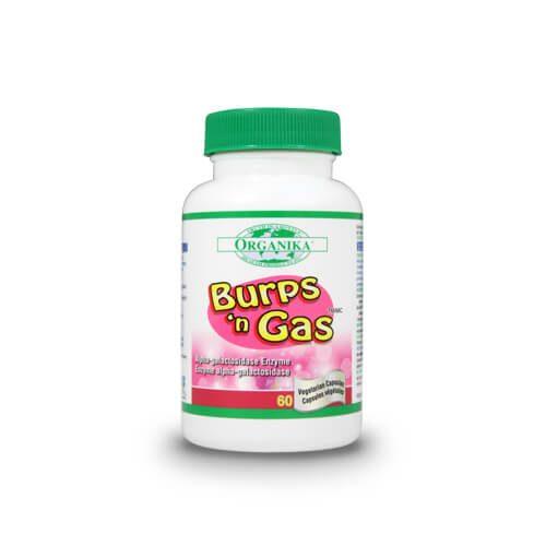 Burps 'n Gas - neutralizeaza gazele din stomac si flatulenta din intestine