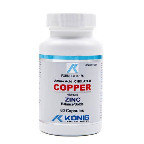 Copper - cupru cu balanta de zinc - 5000 mcg (5 mg) - 60 tablete