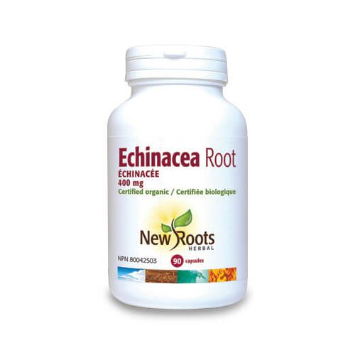 Echinacea root forte - Produse naturiste New Roots - 400 mg - 90 capsule vegetale