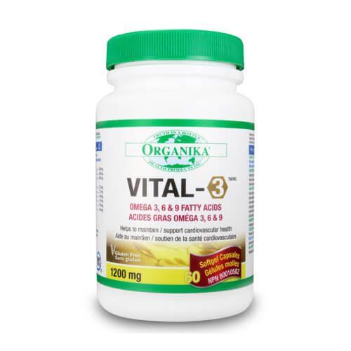 Vital-3 - complex de Omega 3-6-9