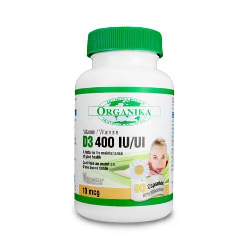 Vitamina D3 400 UI - 10 mcg - 90 capsule